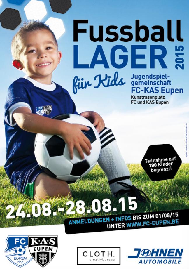 Fussballlager Plakat